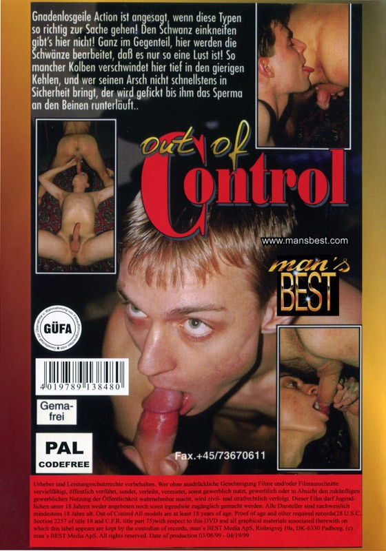 Out of Control (Man's Best) DVD - Back