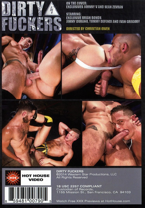 Dirty Fuckers (Hot House) DVD - Back