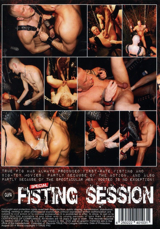 Fisting Session DVD - Back