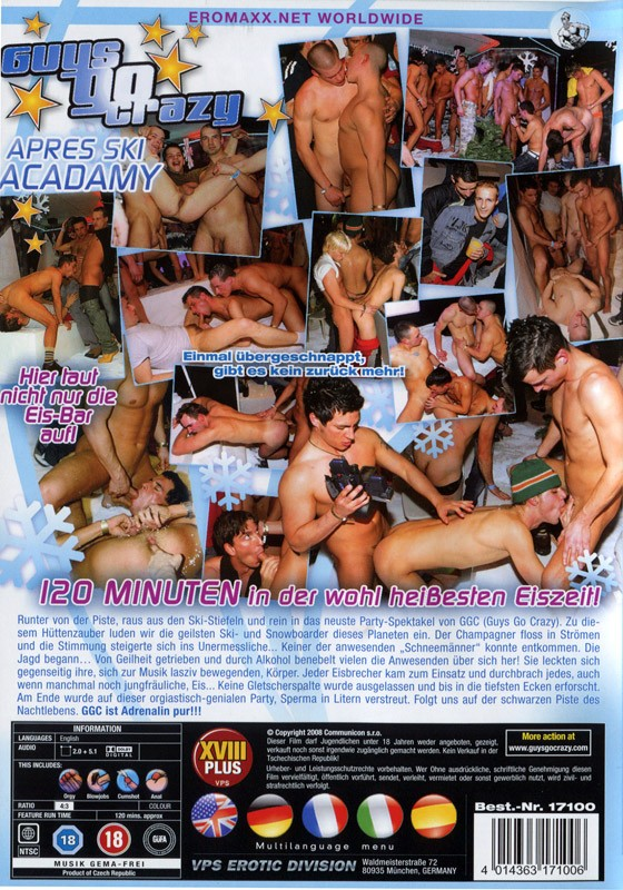 Guys Go Crazy 19: Jizz Blizzard DVD - Back
