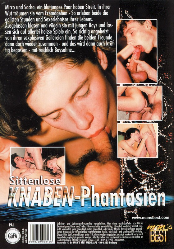 Sittenlose Knaben-Phantasien DVD - Back