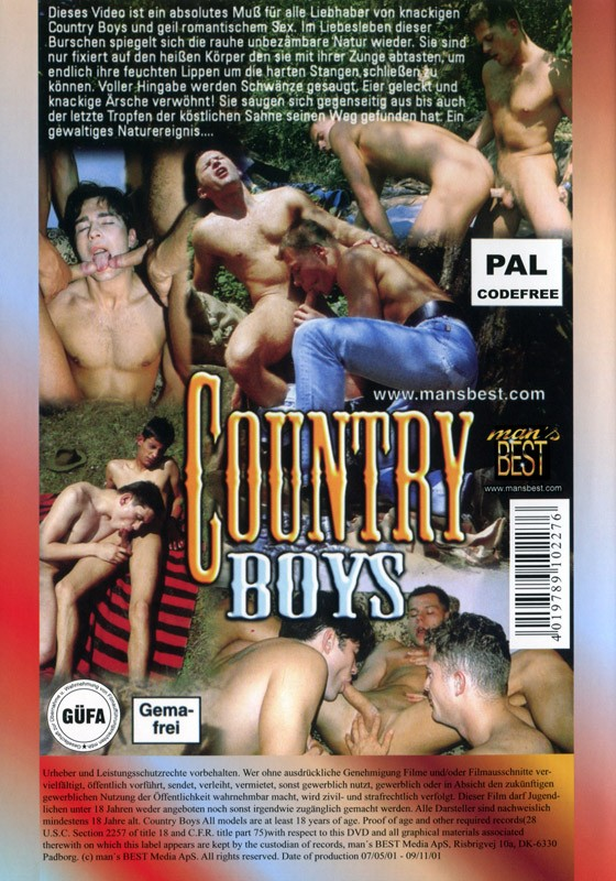 Country Boys DVD - Back