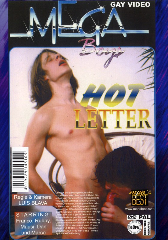 Hot Boys & Hot Letter DVD - Back