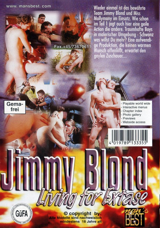 Jimmy Blond Living For Extase DVD - Back