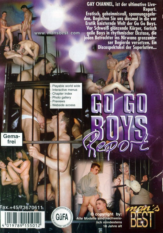 Go Go Boys Report DVD - Back