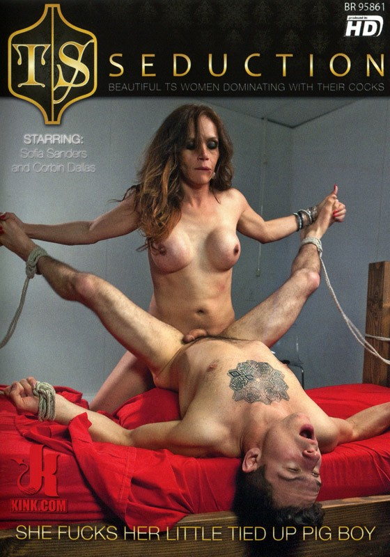 TSS058 - She Fucks Her Little Tied UP Pig Boy DVD (S) - Front