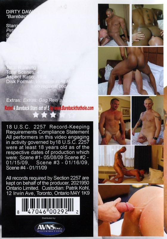 Bareback My Crack DVD - Back
