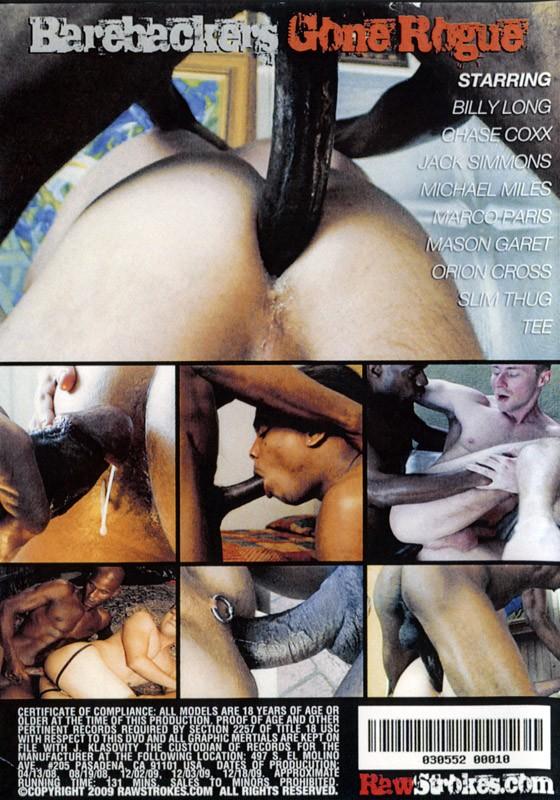 Barebackers Gone Rogue DVD - Back