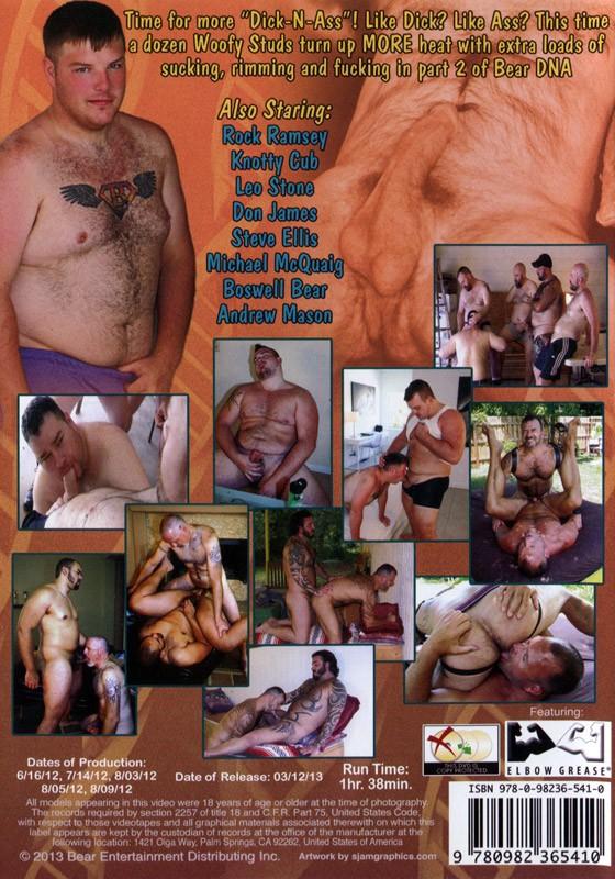 Bear DNA 2 Dick-N-Ass DVD - Back