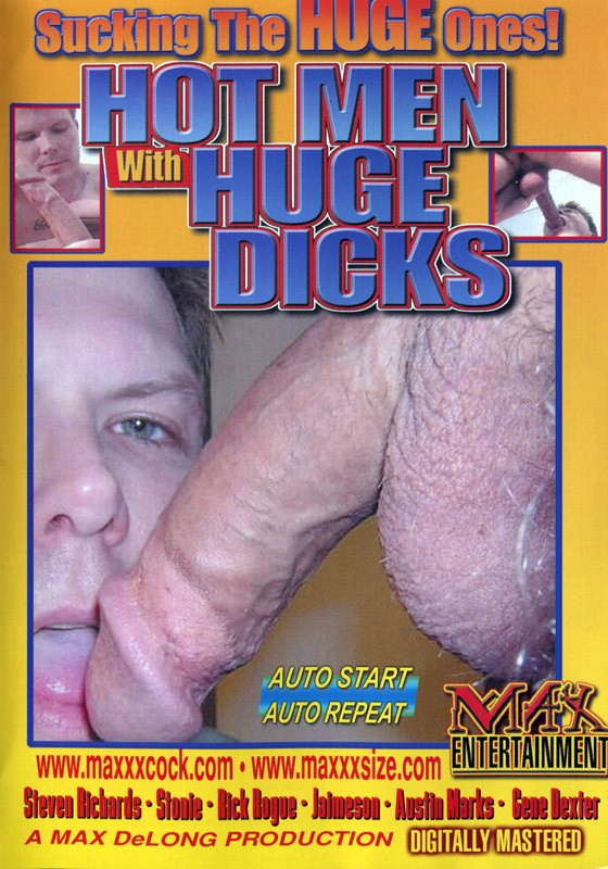 Hot Men With Huge Dicks DVD - Front