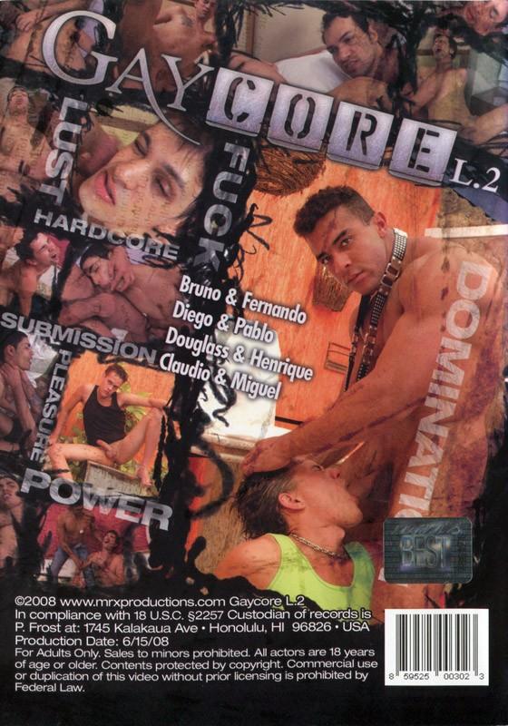Gay Core L.2 DVD - Back