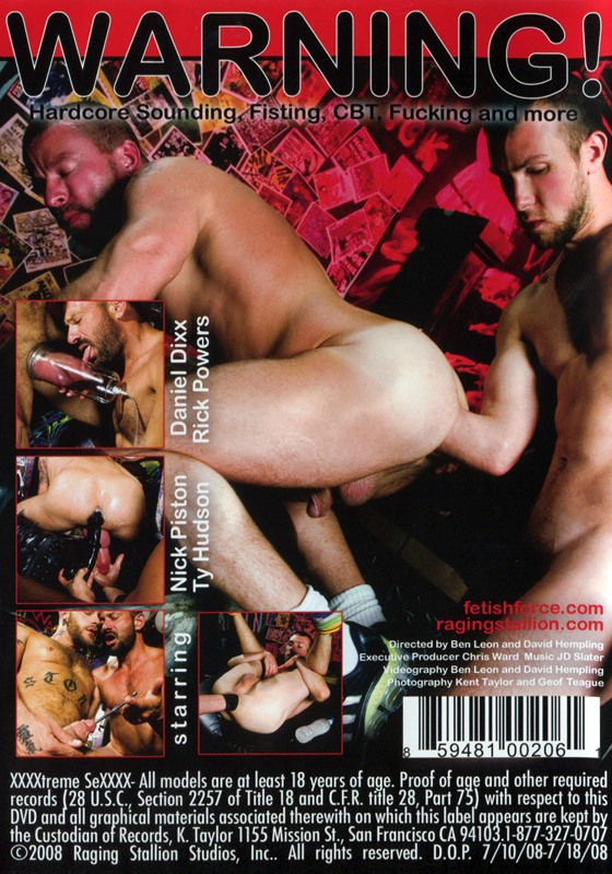 Hardcore Fetish Series:XXXXtreme 1 DVD - Back
