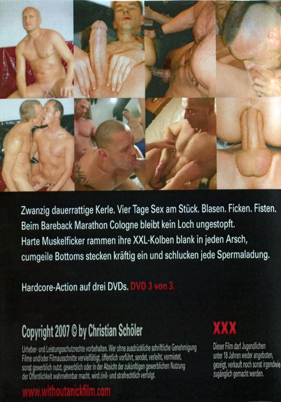Bareback Marathon Cologne 3 DVD - Back