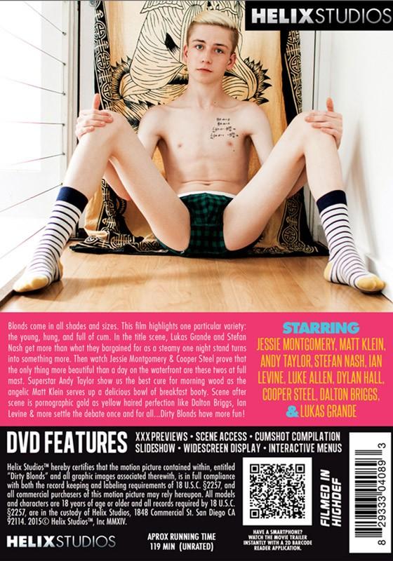 Dirty Blonds (Helix) DVD - Back