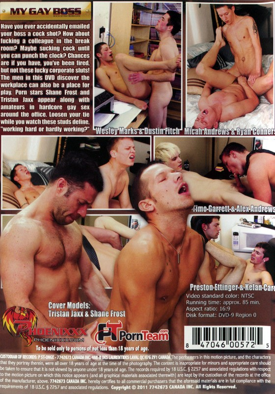 My Gay Boss DVD - Back