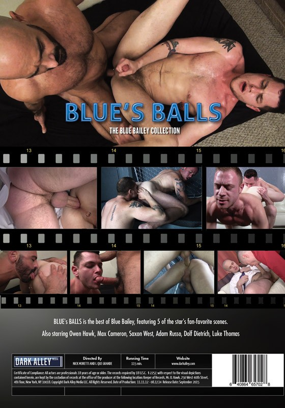 Blue's Balls DVD - Back