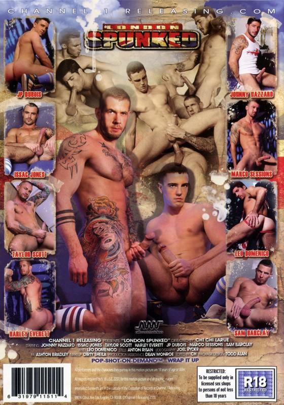 London Spunked DVD - Back