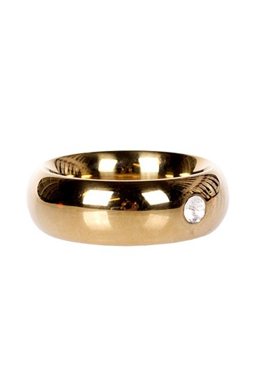 Gold Donut Cockring with Jewel - Thick - Gallery - 001