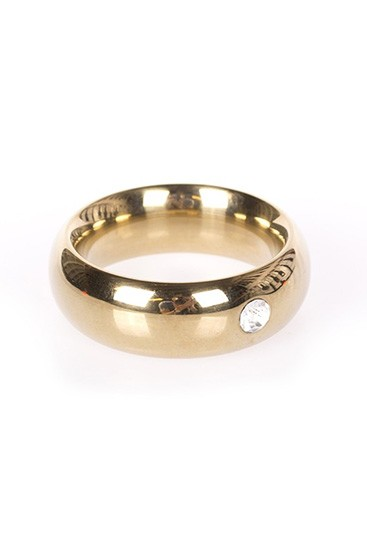 Gold Donut Cockring with Jewel - Thick - Gallery - 002