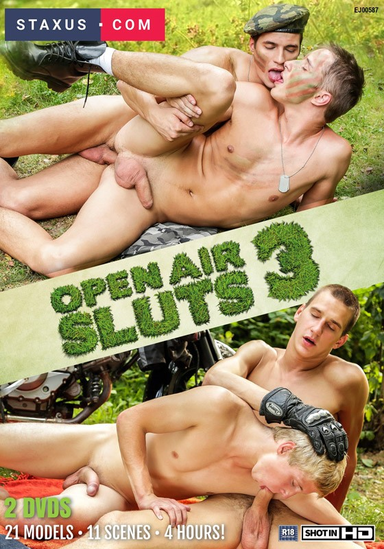 Open Air Sluts 3 DVD - Front