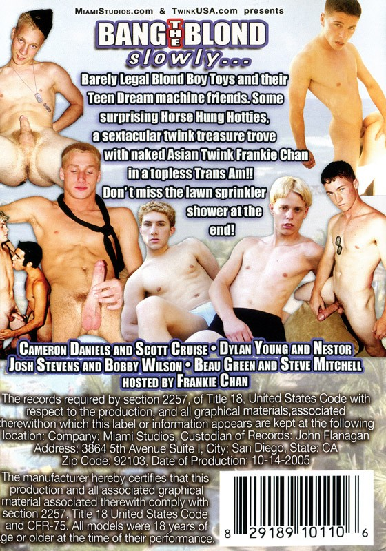 Bang the Blonde Slowly... DVD - Back