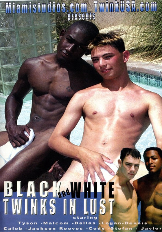 White and black twink