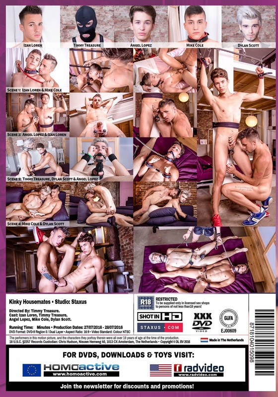 Kinky Housemates DVD - Back