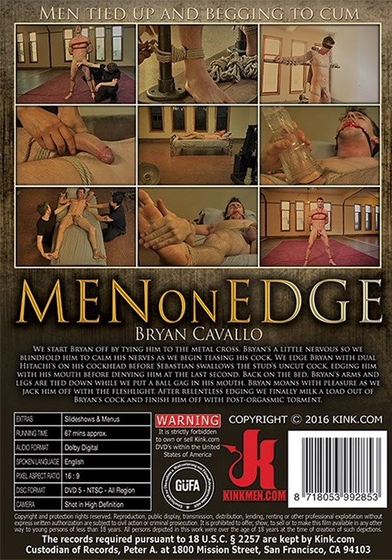 Men on Edge 52 DVD (S) - Back