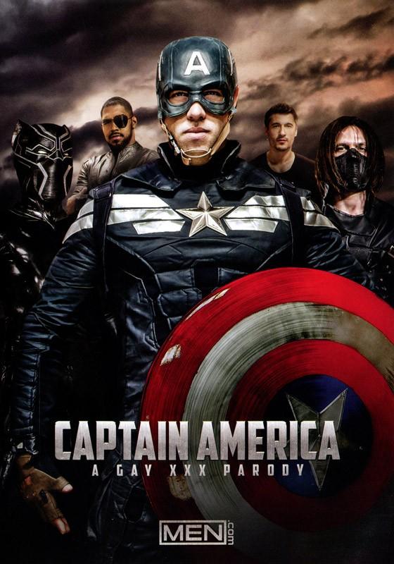 Captain America: A Gay XXX Parody DVD - Front