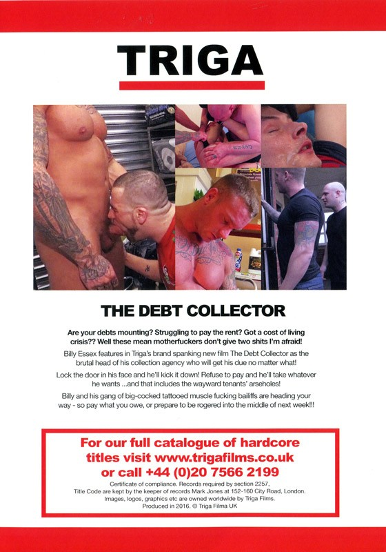 The Debt Collector DVD - Back