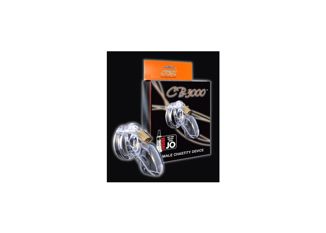 CB-3000 Chastity Cage - Clear - 37 mm. - Front
