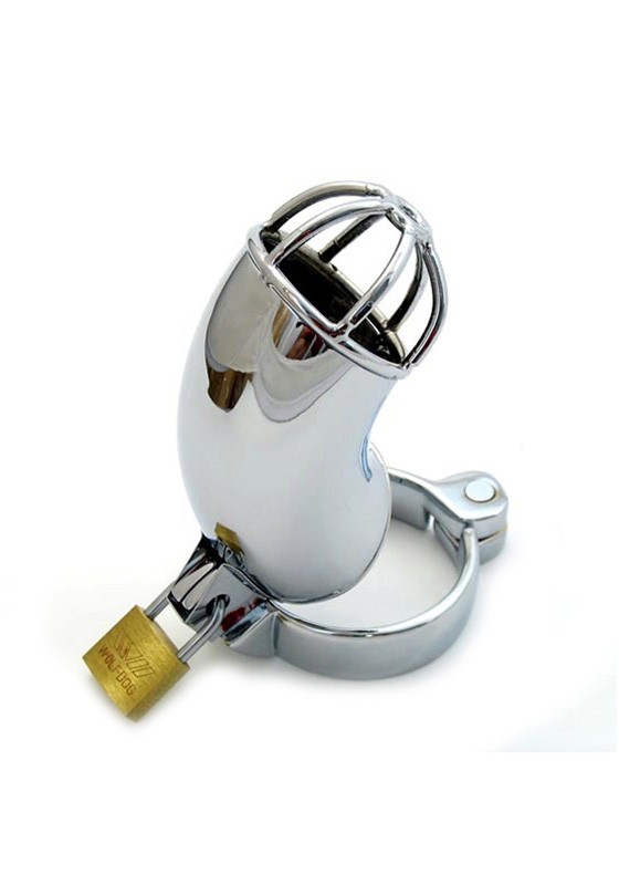 Male Chastity Device - Lancelot Diamond Tube - Stainless Steel - Back
