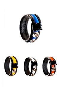 3 Snap Leather Cock Ring - Colors - Front