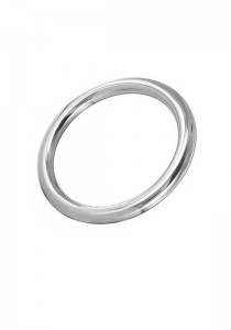 Stainless Steel Round Cock Ring 8 mm. - Front