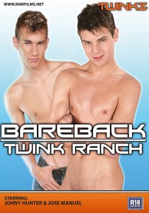 Bareback Twink Ranch DVD - Front