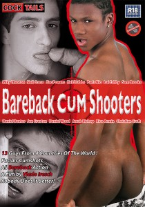 Bareback Cum Shooters DVD - Front