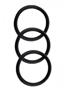 Perfect Fit Silicone 3 Ring Kit - Black
