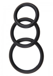 Silicone 3 Ring Kit Mix (M + L + XL) - Black